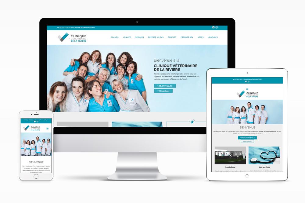 Site internet de la clinique vétérinaire de la Rivière