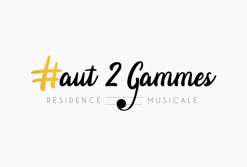 Logo et cartes de visite résidence musicale