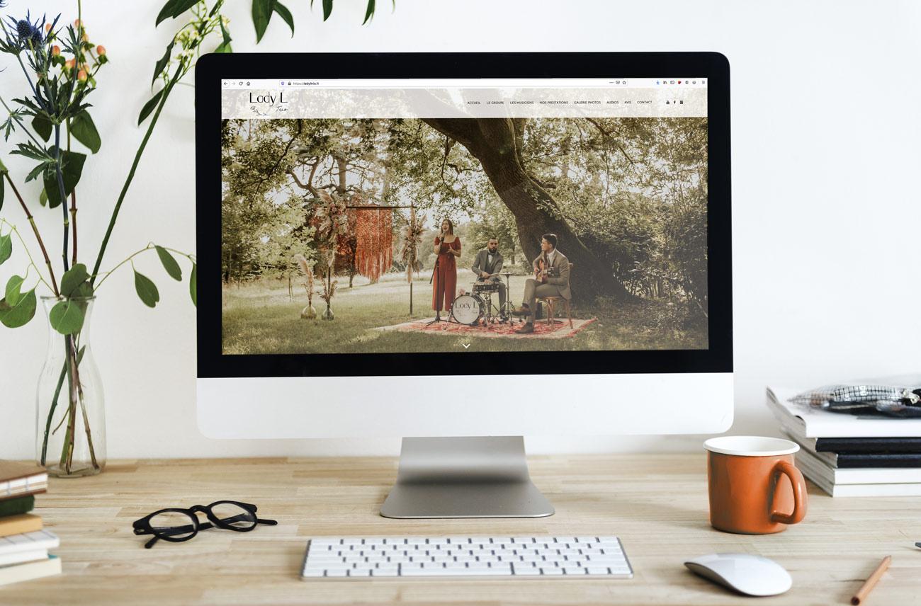 Site internet du groupe de jazz Lady L trio - Style bohème chic