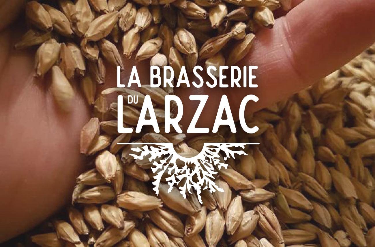 Identité visuelle de la brasserie du Larzac