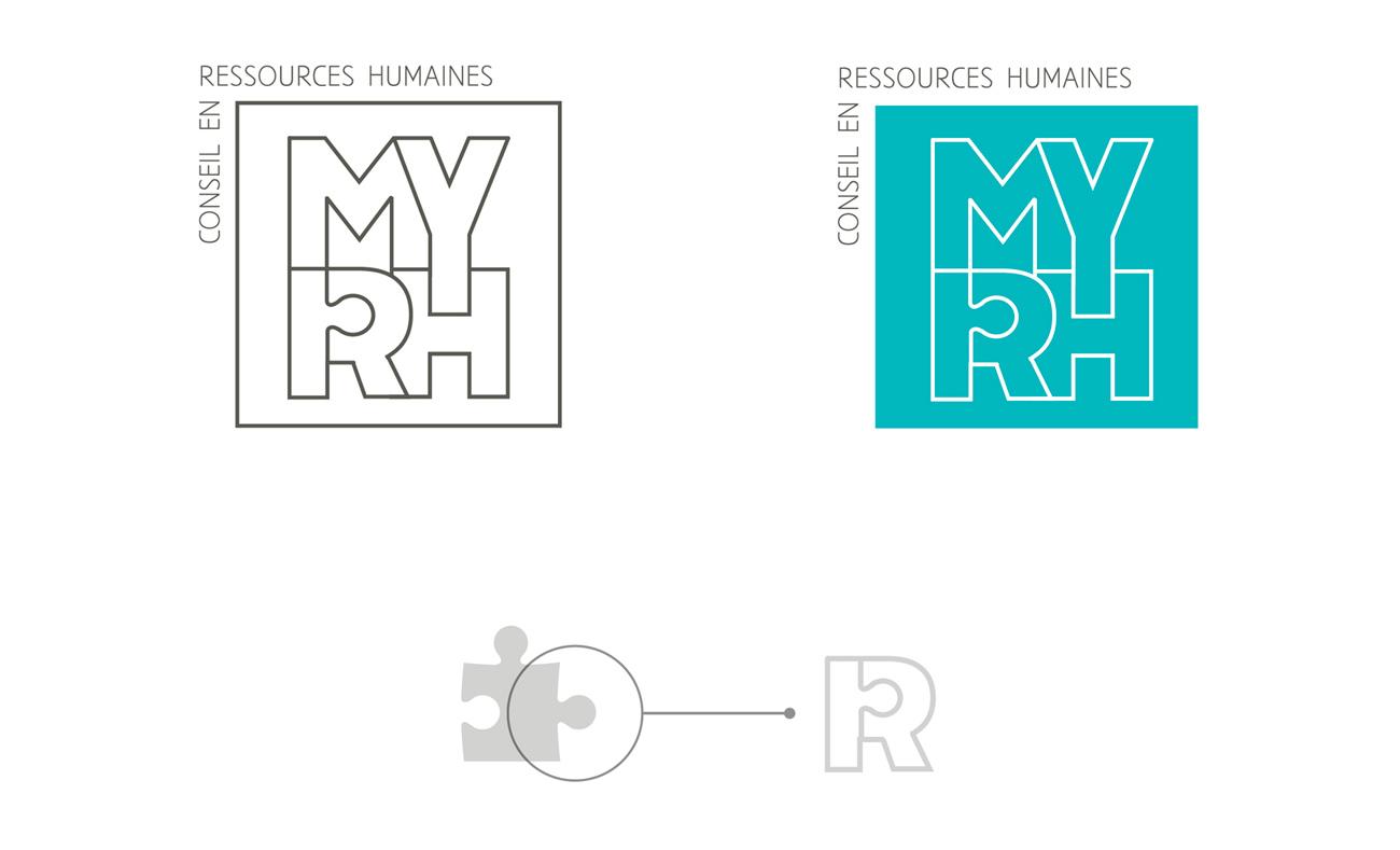 Explication de la symbolique du puzzle et de la forme carré du logo My RH