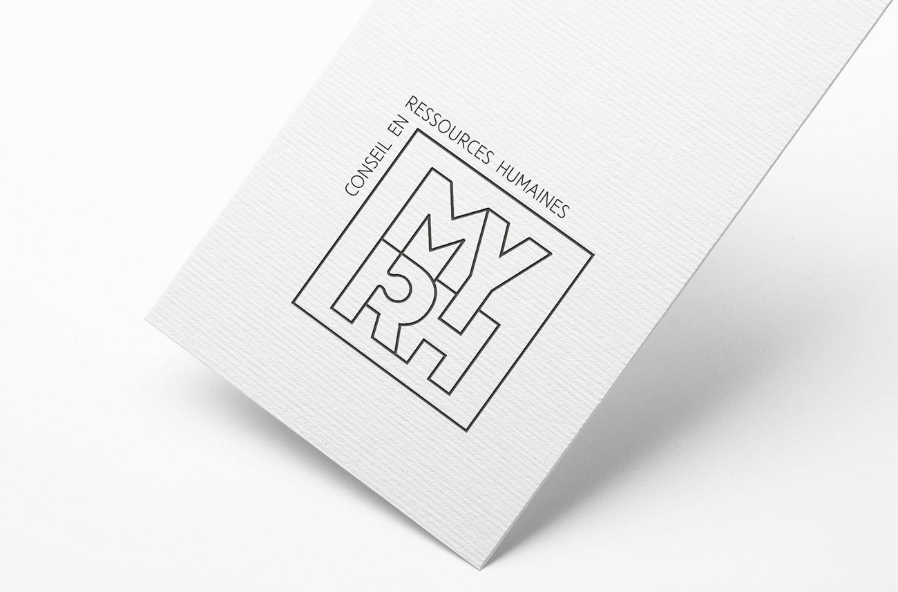Logo typographique original pour une conseillère en ressources humaines