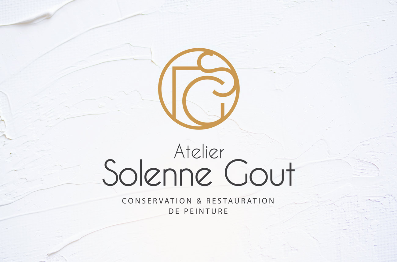 Identité visuelle de l'atelier Solenne Gout, conservation et restauration de peinture