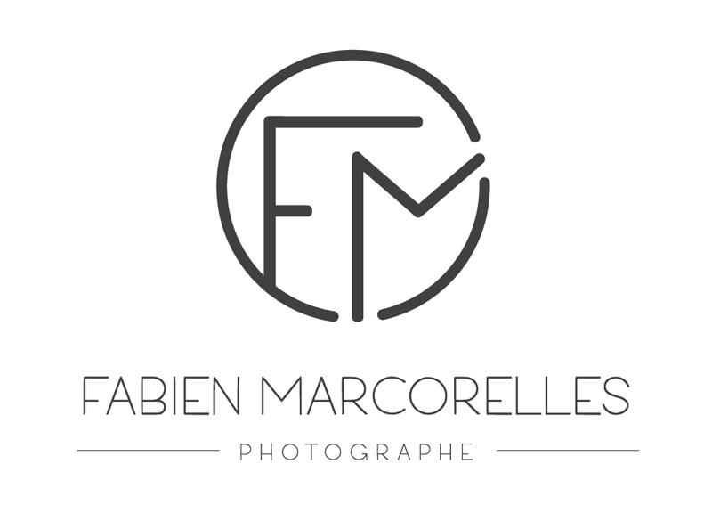 Logo FM au style minimaliste pour le photographe Fabien Marcorelles