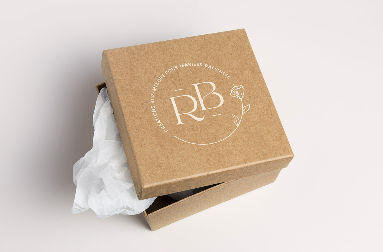 Logo Rakel B imprimé sur une box
