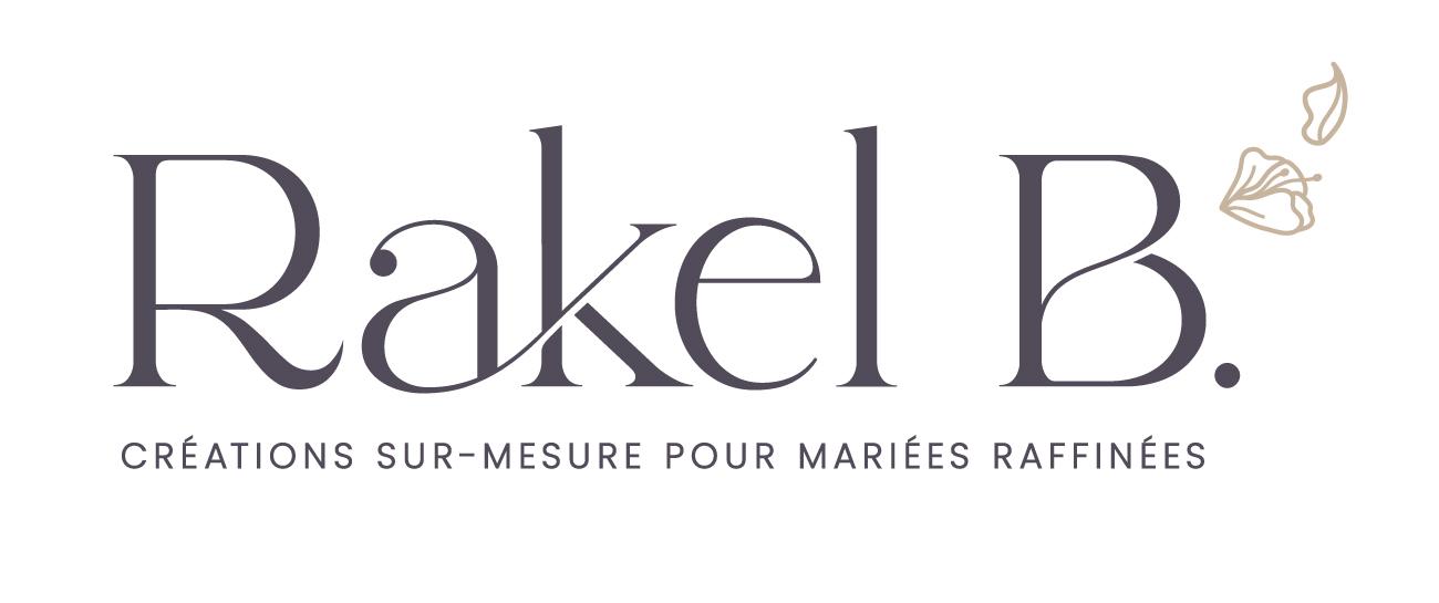 Logo original de Rakel B, créations sur-mesure pour mariées raffinées