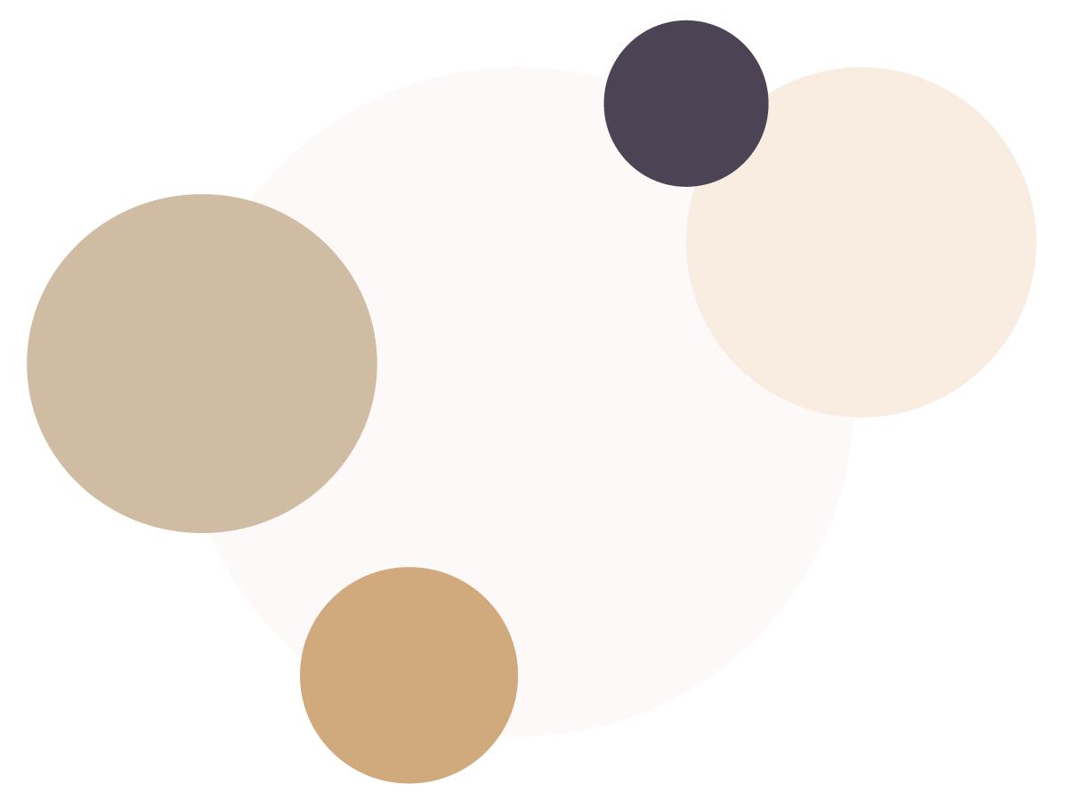 Palette de couleurs de l'identité graphique de Rakel B mariage