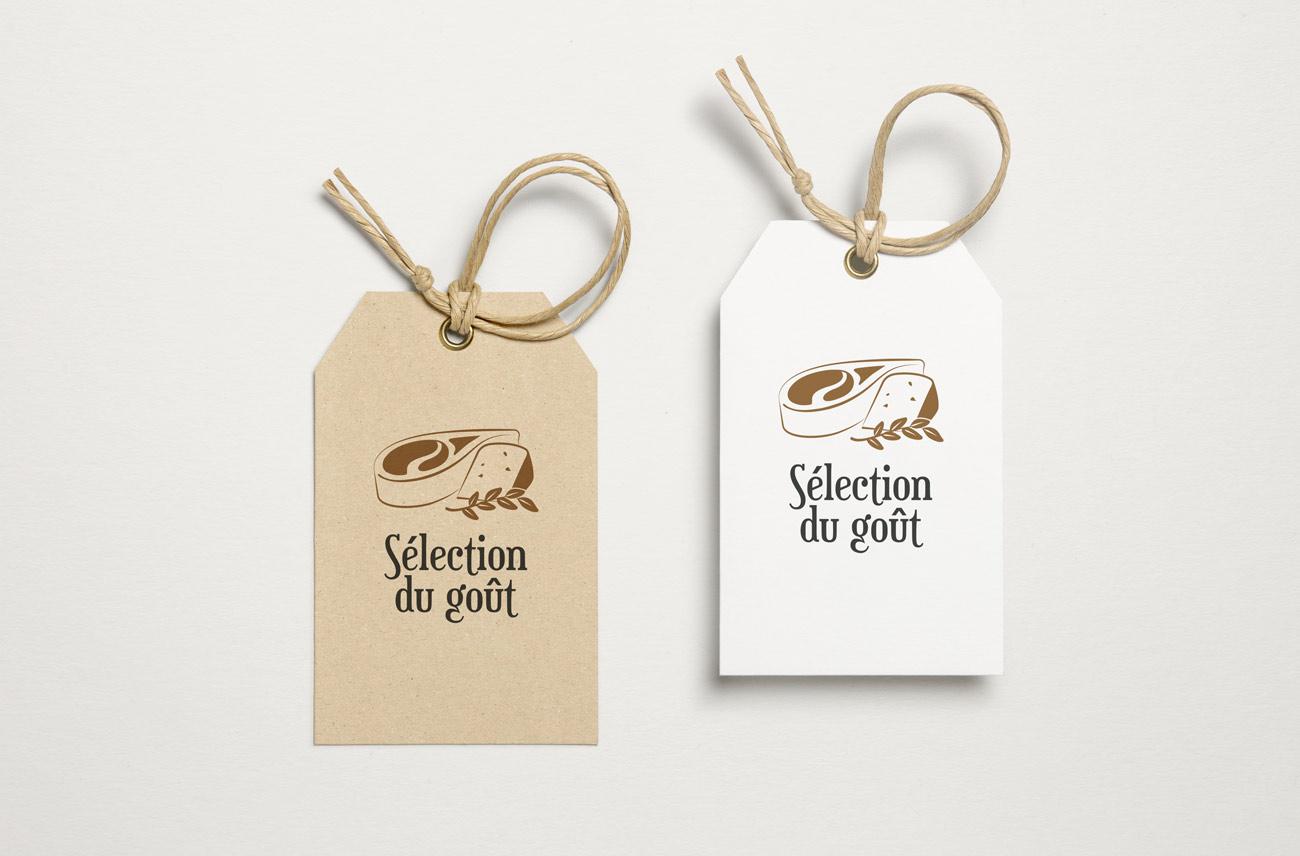 Étiquettes produits avec logo de l'entreprise Sélection du goût