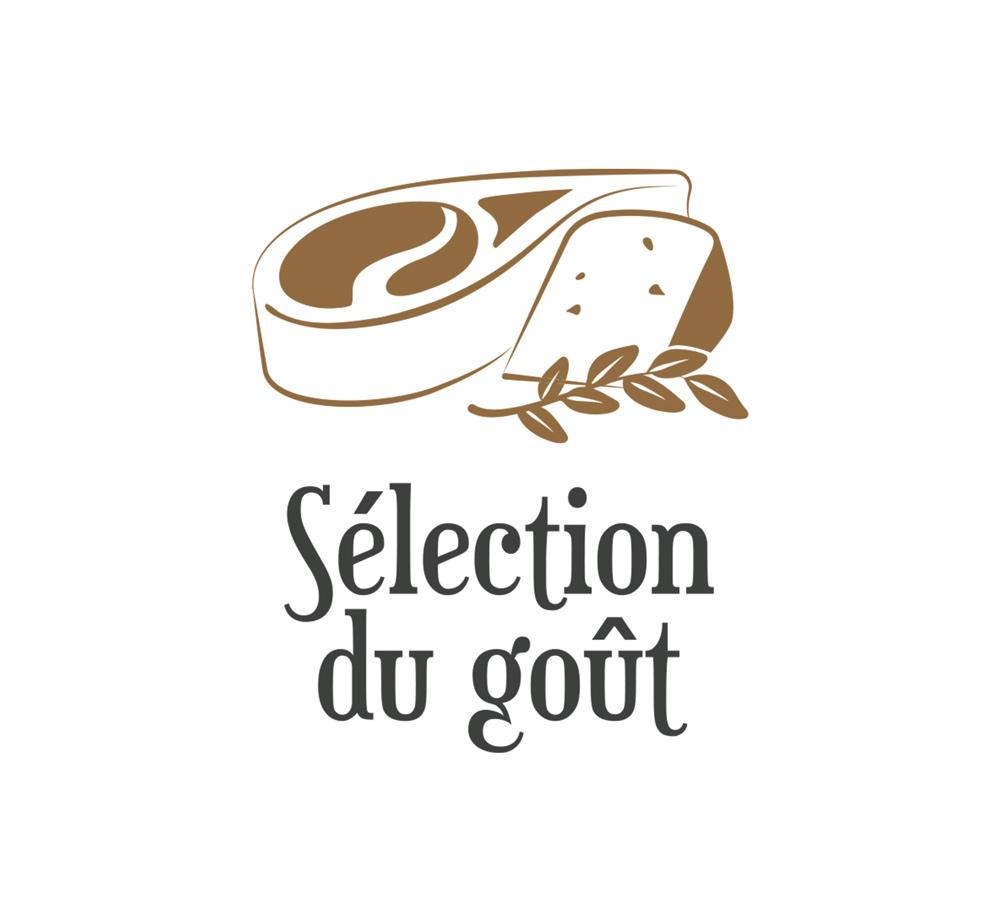 Logo de l'entreprise aveyronnaise Sélection du goût, mettant à l'honneur les produits de l'aveyron