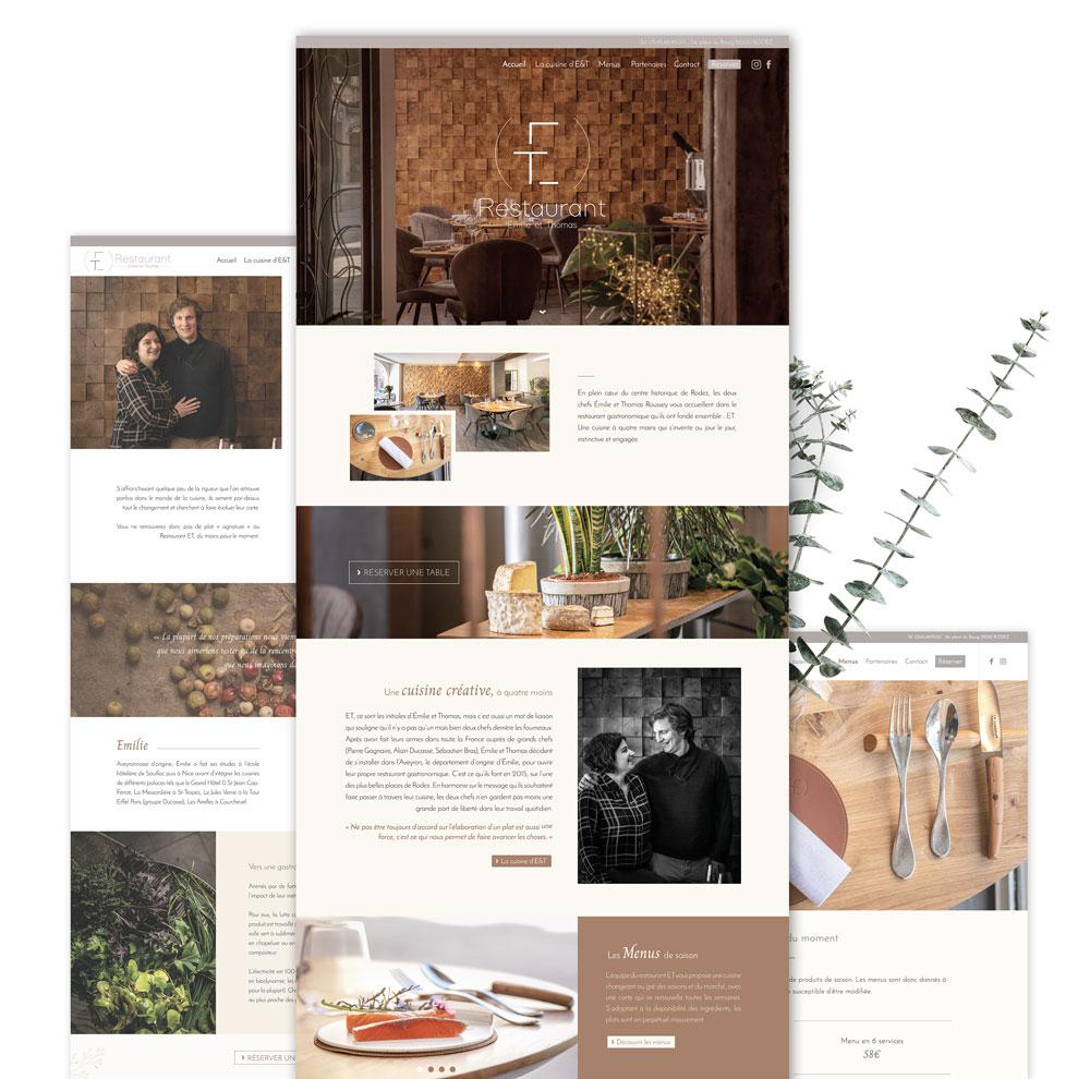 Webdesign du restaurant gastronomique ET à Rodez : un site épuré, élégant et chaleureux