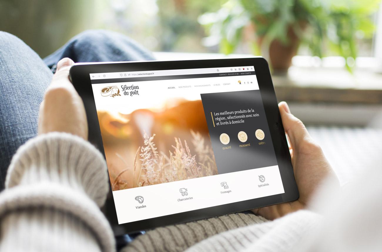 Webdesign et création du site e-commerce de Sélection du goût, vente de produits aveyronnais